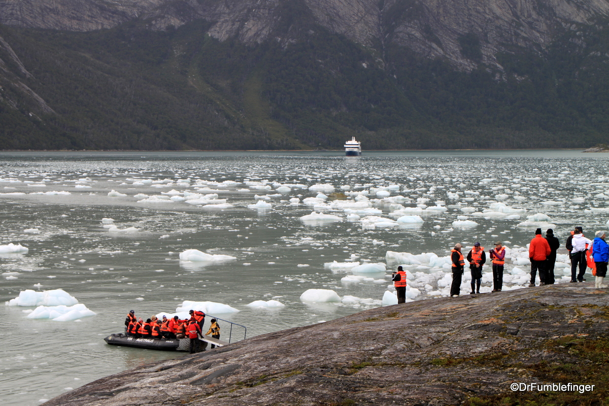 Approaching Pia Glacier by zodiac