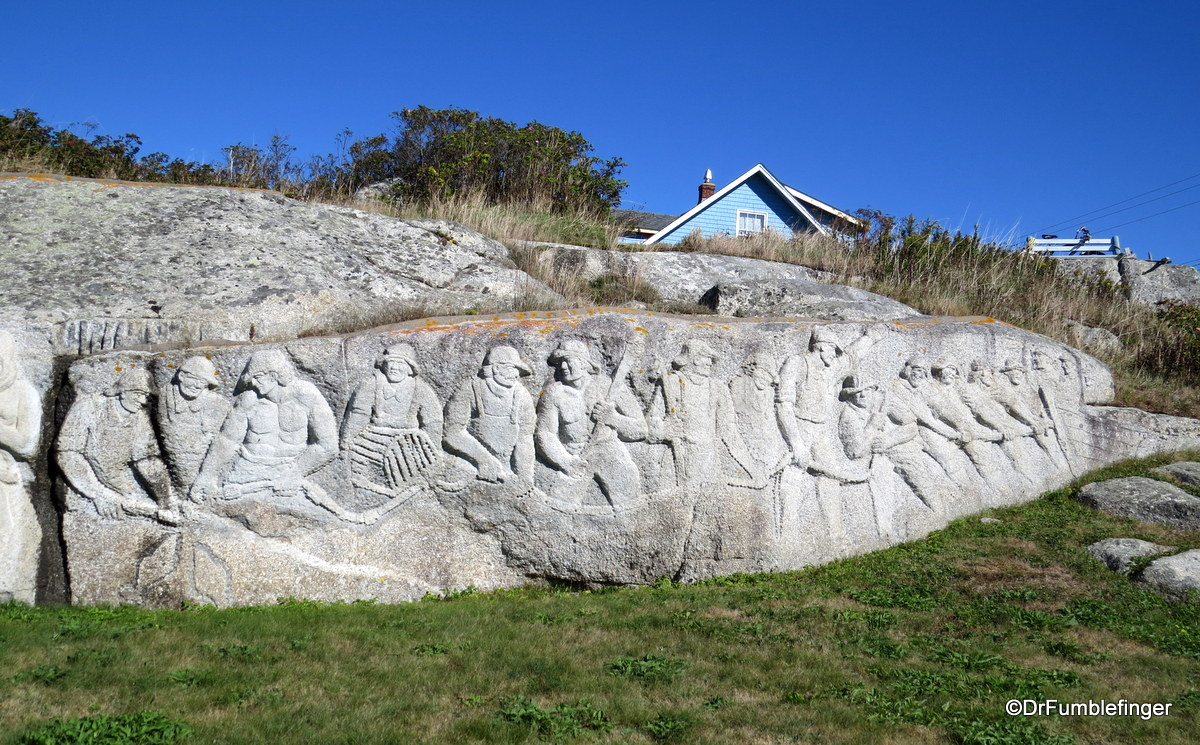A Portion of Fisherman's Monument at Peggy's Cove