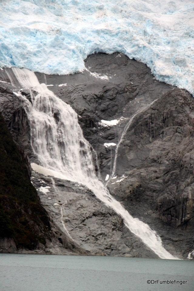 Waterfall and Glacier, Glacier Alley