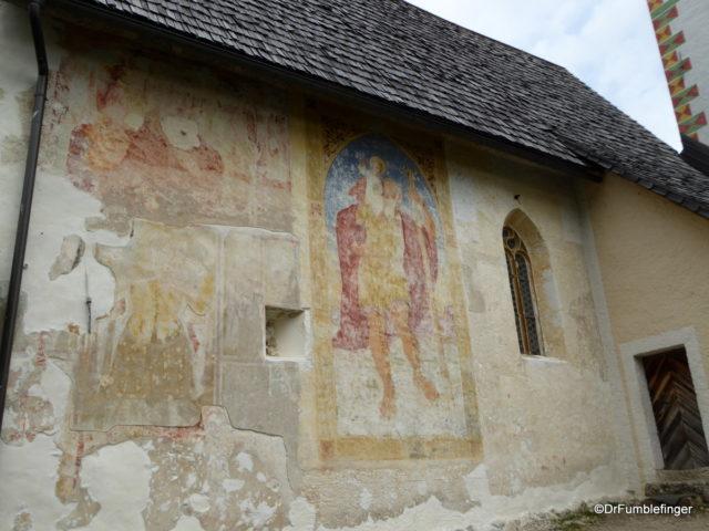 Fresco of St. Christopher, Church of St. John the Baptist