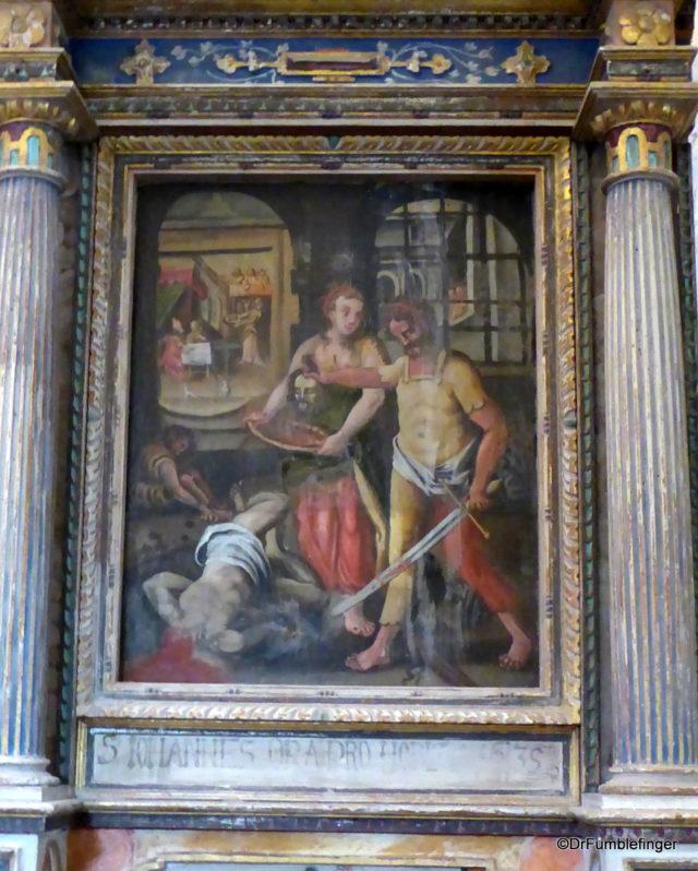 Mural of St. John's beheading, Church of St. John the Baptist