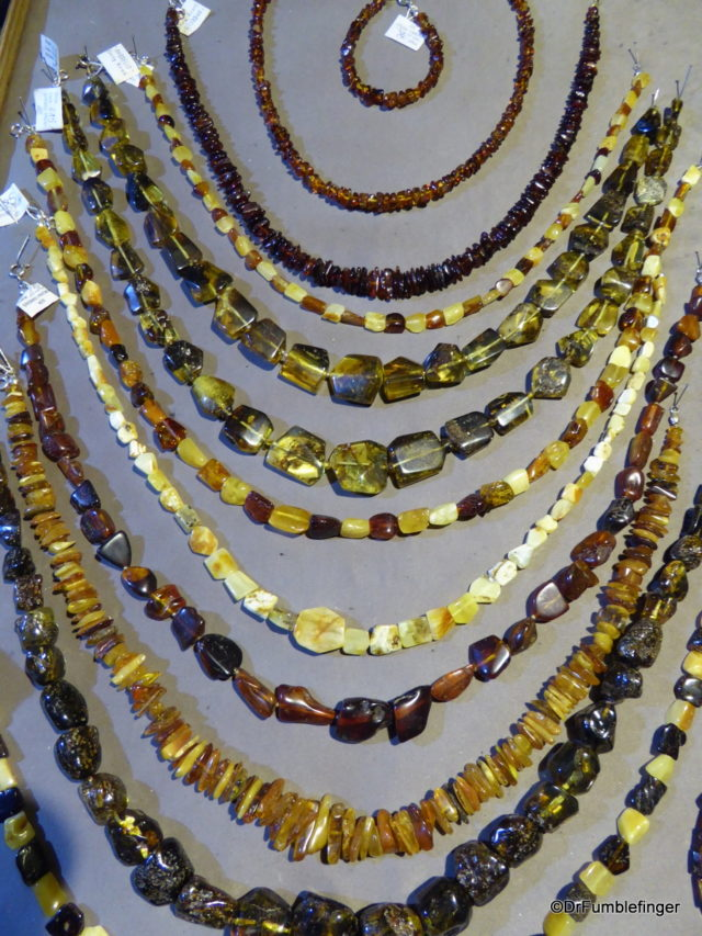 Amber jewelery, Little Market Square, Krakow