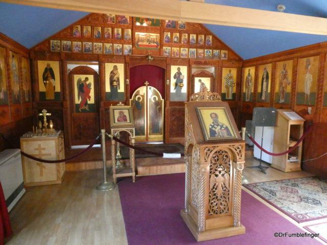 Interior, St. Nicholas Church, Eklutna Historical Park