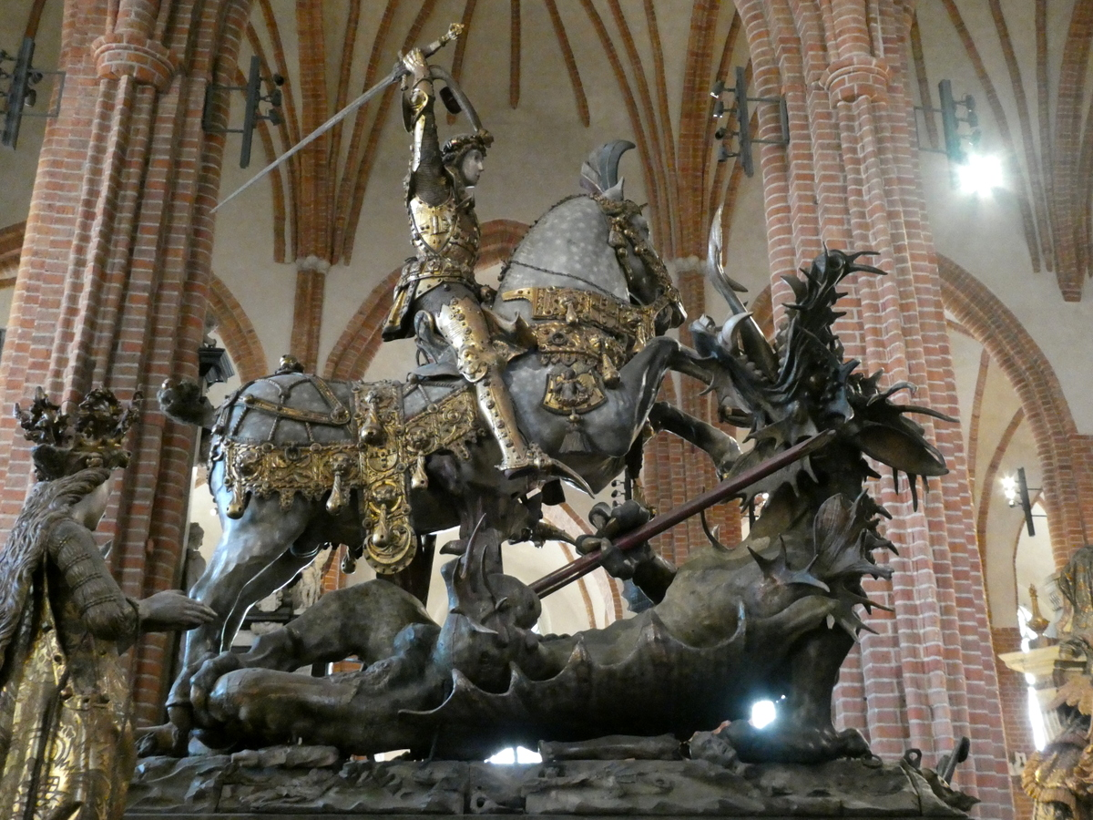 Statue of St. George and the Dragon, Stockholm Cathedral