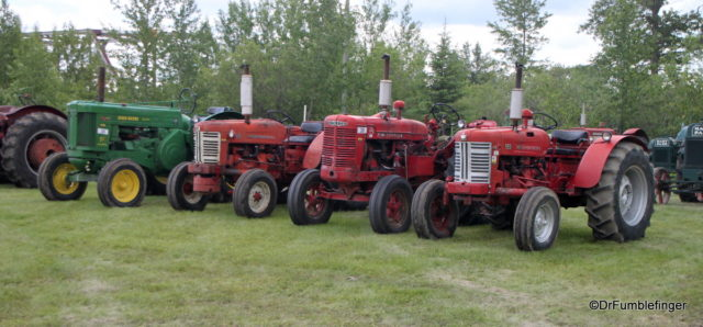 A gathering of old tractors, Markerville