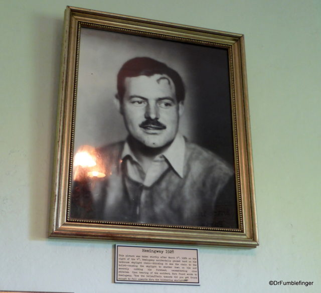 Memorabilia on display at the Hemingway House, Key West