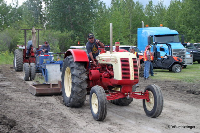 Tractor pull -- hauling a weighted sled as far as you can
