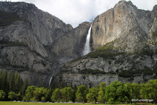 View of Yosemite Falls from Valley Floor