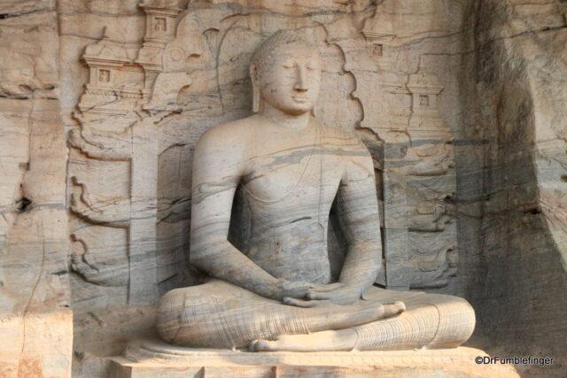 Gal Vihara, Samadhi statue