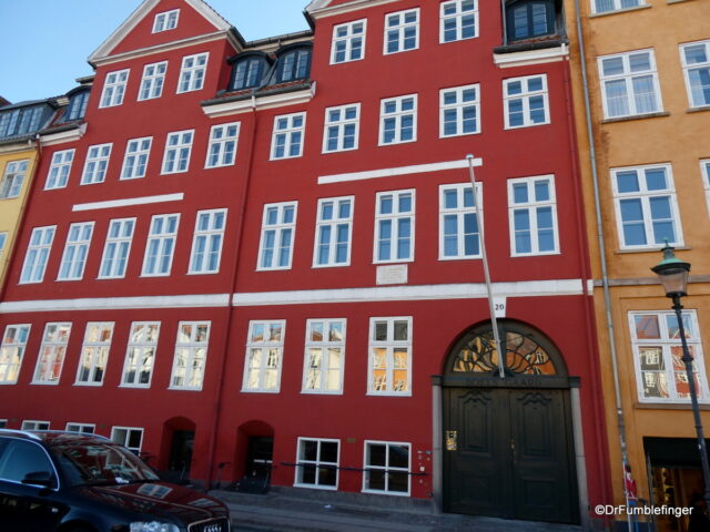 Hans Christian Andersen home, Nyhavn