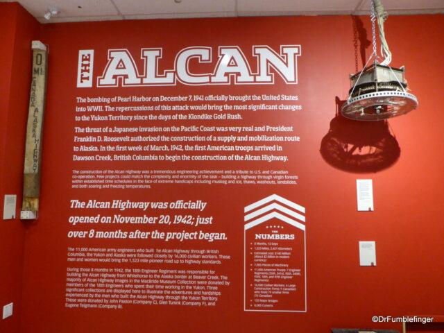 AlCan Highway display, MacBride Museum