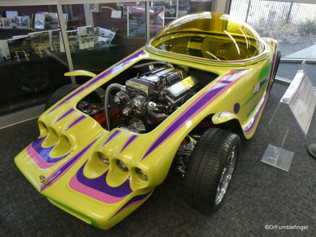 One of the first cars you see on entering the museum, a 1994 Beatnik Bandit II, built by Eddie Roth