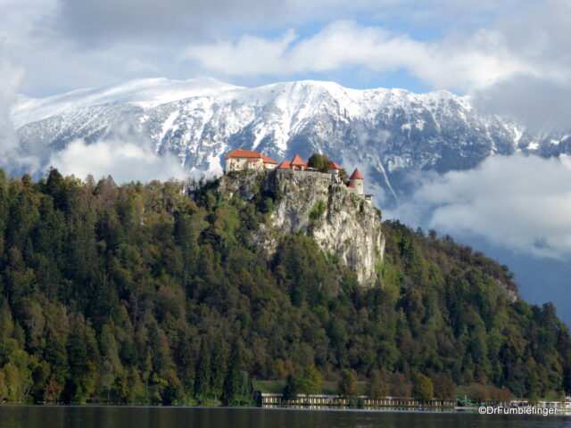 Bled Castle viewed from Bled Island